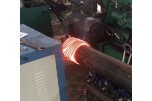 锚链档杆中频加热电炉,锚链中档杆生产制造设备