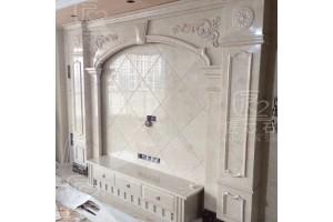 罗马柱背景墙佛山专业厂家定做 大理石石材方柱微晶石边框装饰
