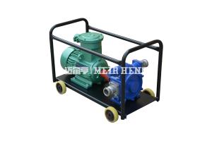 KYB移動式自吸滑板油泵 防爆電動抽油泵