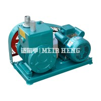 2X双级旋片式真空泵工业用高真空树脂脱泡机皮带轮真空泵